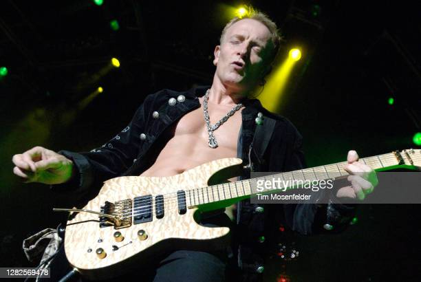 Phil Collen of Def Leppard performs at Sleep Train Pavilion on September 18, 2007 in Concord, California.