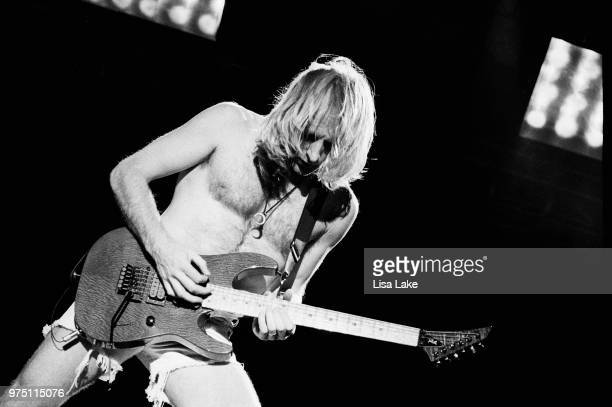 Phil Collen of Def Leppard performs on August 03 1993 in Allentown Pennsylvania