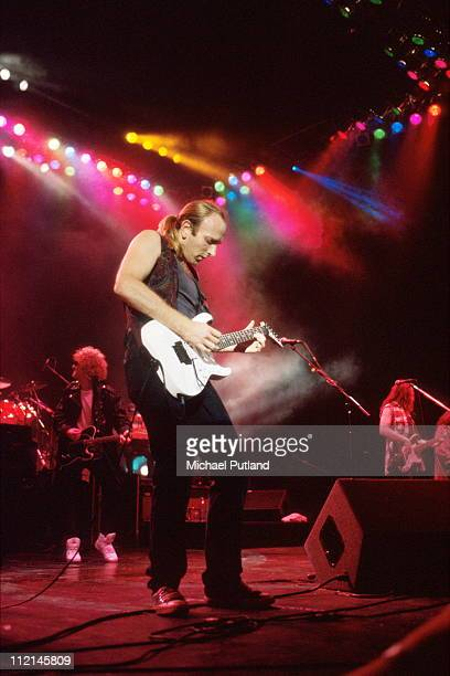 Phil Collen of Def Leppard performs on stage London 1992