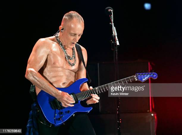 Phil Collen of Def Leppard performs onstage during the 2019 iHeartRadio Music Festival at TMobile Arena on September 21 2019 in Las Vegas Nevada