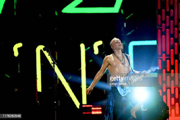 Phil Collen of of Def Leppard performs onstage during the 2019 iHeartRadio Music Festival at TMobile Arena on September 21 2019 in Las Vegas Nevada