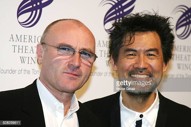 Phil Collins and David Henry Hwang during American Theatre Wing Annual Spring Gala April 10 2006 at Cipriani's 42nd street in New York City New York...