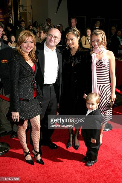 Phil Collins and family during 'Brother Bear' New York Premiere at New Amsterdam Theatre in New York City New York United States