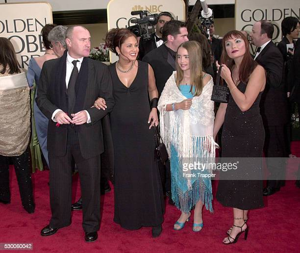 Phil Collins and his family arriving at the 58th Annual Golden Globe Awards held at the Beverly Hilton Hotel