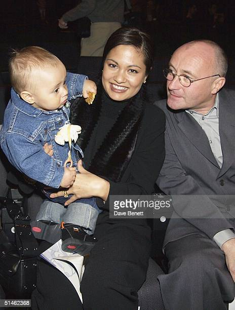 Phil Collins and his family attend the opening of the Walt Disney Studios in Disneyland Paris on March 15 2002 in Paris