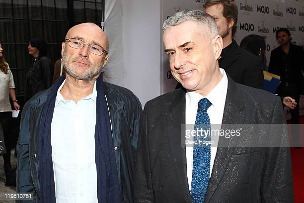 Phil Collins and Holly Johnson attend the Glenfiddich Mojo Honours List 2011 at The Brewery on July 21 2011 in London England