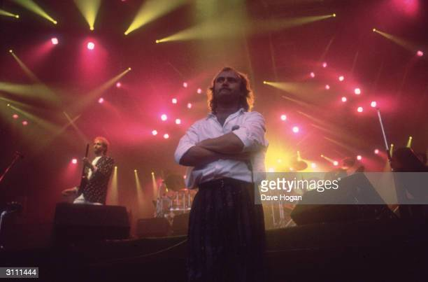 Phil Collins and Mike Rutherford in concert with British group Genesis 1987