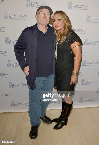 Phil Collins and Orianne Collins attend the Little Dreams Foundation Gala Press Conference at Faena Hotel on October 18 2017 in Miami Beach Florida
