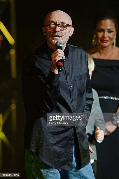 Phil Collins and Orianne CollinsMejjati attend the 2014 Annual Little Dreams On The Beach Gala at Fillmore Miami Beach on December 6 2014 in Miami...