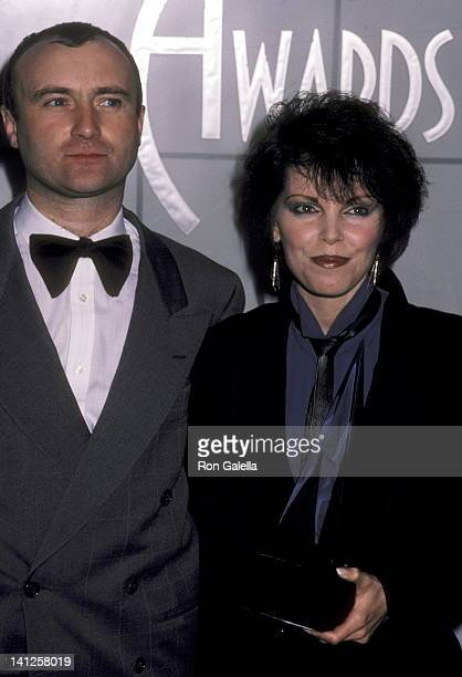Phil Collins and Pat Benatar at the 11th Annual American Music Awards Shrine Auditorium Los Angeles