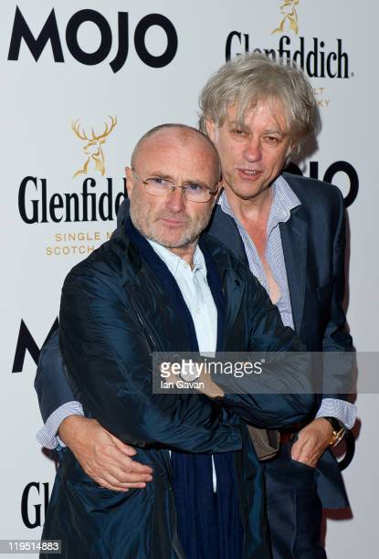 Phil Collins and Sir Bob Geldof attend the Glenfiddich Mojo Honours List 2011 at The Brewery on July 21 2011 in London England