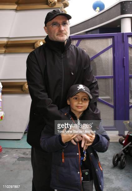 Phil Collins and Son during Disneyland Paris 15th Anniversary Celebration at Disneyland Paris in MarneLaVallee / Paris France