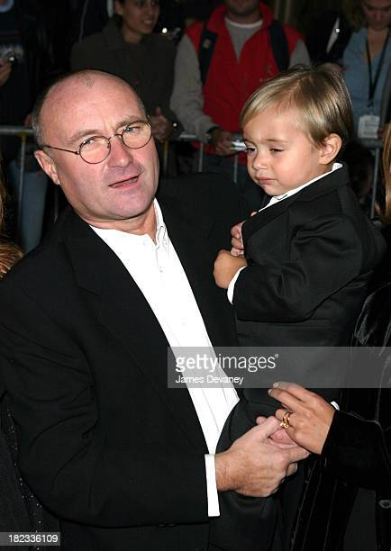 Phil Collins and son Nicholas during Brother Bear New York Premiere at New Amsterdam Theatre in New York City New York United States