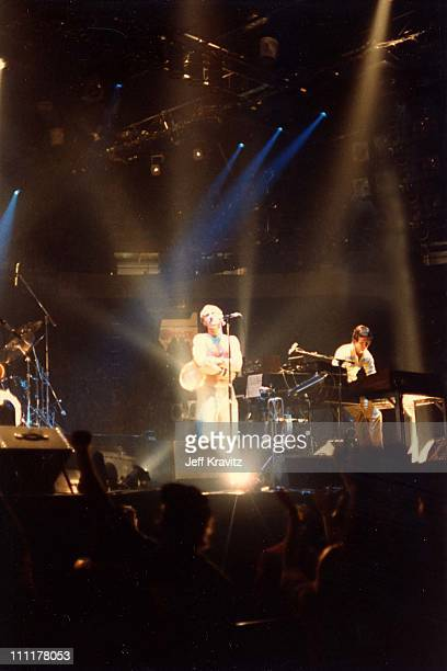 Phil Collins and Tony Banks of Genesis during Genesis in 1981 Concert at The Spectrum in Philadelphia Pennsylvania United States