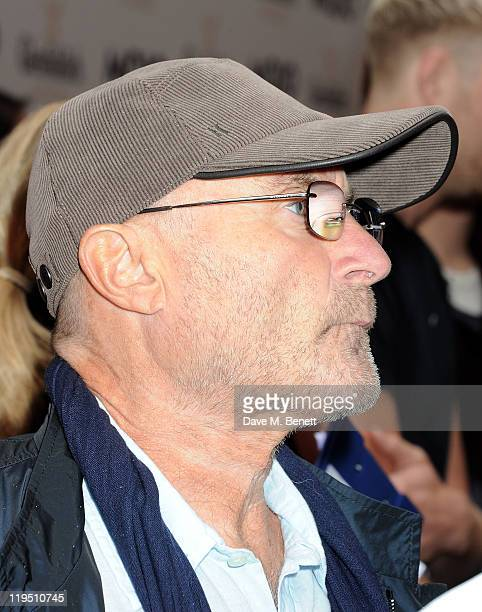 Phil Collins arrives at the Glenfiddich Mojo Honours List 2011 awards ceremony at The Brewery on July 21 2011 in London England