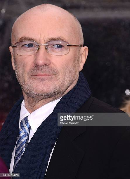Phil Collins arrives at the 'Mirror Mirror' Los Angeles Premiere at Grauman's Chinese Theatre on March 17 2012 in Hollywood California