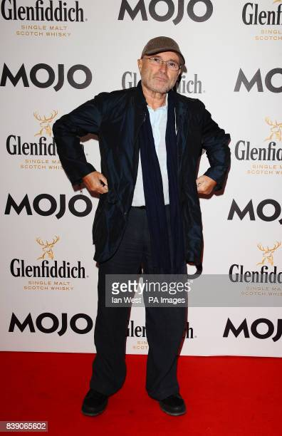 Phil Collins arrives at the Mojo Awards at the Brewery in London
