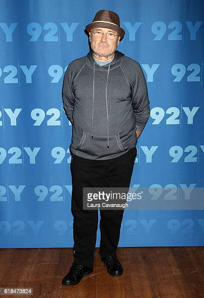 Phil Collins attends 92nd Street Y Presents Phil Collins in Conversation with Anthony Mason at 92nd Street Y on October 26 2016 in New York City