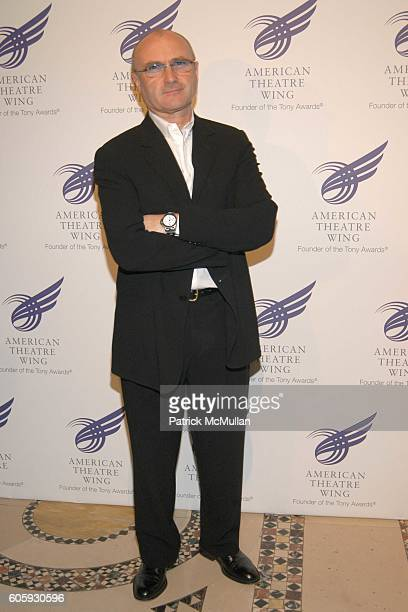 Phil Collins attends The American Theatre Wing's Annual Spring Gala Honoring Matthew Broderick And Nathan Lane at Cipriani 42nd on April 10 2006 in...