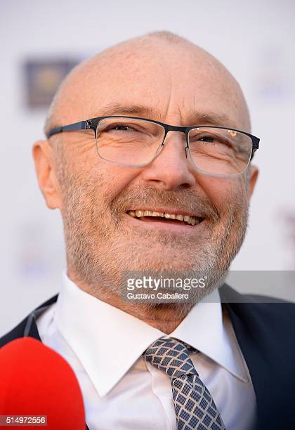 Phil Collins attends The Little Dreams Foundation Benefit Gala Dreaming on the Beach at Fillmore Miami Beach on March 11 2016 in Miami Beach Florida