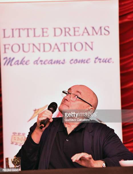 Phil Collins attends the Little Dreams Foundation Gala Press Conference at Faena Hotel on October 18 2017 in Miami Beach Florida