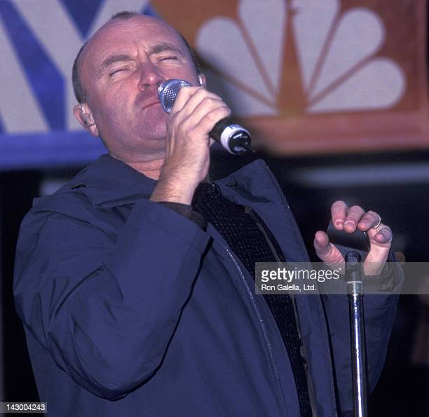 Phil Collins attends the taping of 'Today Show' on November 15 2002 at Rockefeller Plaza in New York City