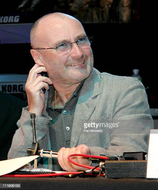 Phil Collins during 955 WPLJ's Rocky Allen Showgram Celebrates Their 2nd First Annual Showgram Anniversary Show at Hard Rock Cafe in New York City...