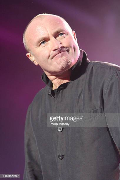 Phil Collins during Phil Collins 'First Final Farewell Tour' at The Point in Dublin November 15 2005 at The Point in Dublin Ireland