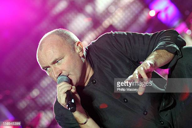 Phil Collins during Phil Collins First Final Farewell Tour at The Point in Dublin November 15 2005 at The Point in Dublin Ireland