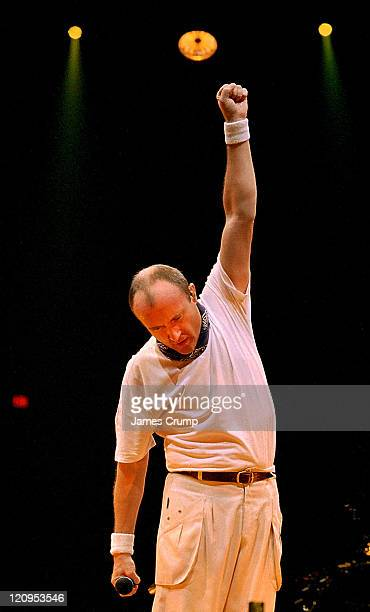 Phil Collins during Phil Collins Live in Chicago at Rosemont Horizon in Chicago IL United States