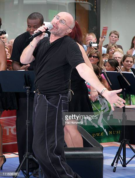 Phil Collins during Phil Collins Performs on NBC's 'The Today Show' June 23 2006 at NBC Studios in New York New York United States