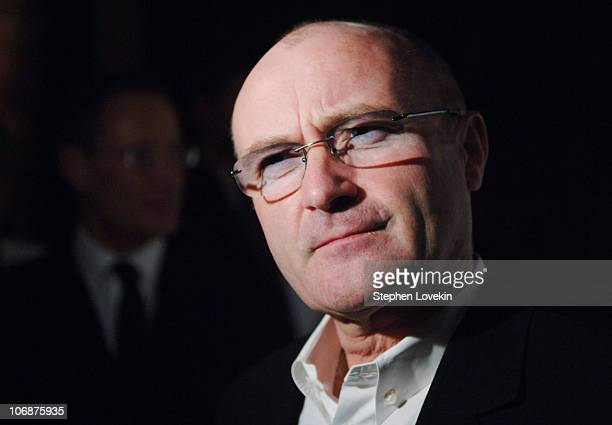 Phil Collins during The American Theatre Wing's Annual Spring Gala Honoring Matthew Broderick and Nathan Lane at Cipriani's 42nd street in New York...