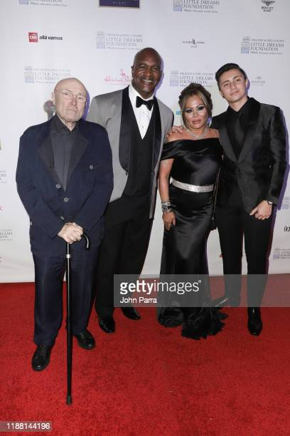Phil Collins Evander Holyfield Orianne Collins and Nick Collins arrive at the 5th Annual Orianne Phil Collins' Little Dreams Foundation Gala at The...