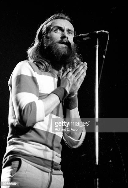 Phil Collins from Genesis performs live on stage at Madison Square Garden in New York on February 23 1977