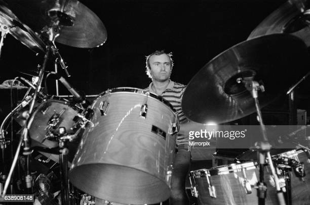 Phil Collins of Genesis ahead of a concert in Saratoga Springs New York State 26th August 1982