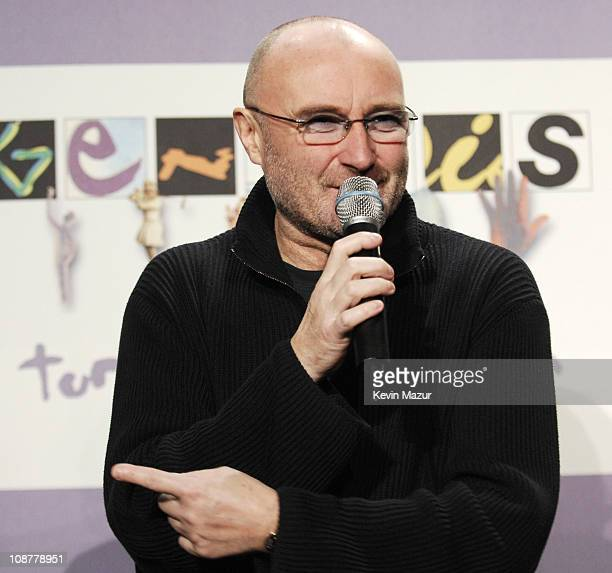 Phil Collins of Genesis during Genesis Announces 'Turn It On Again' Tour Dates at Providence in New York City New York United States
