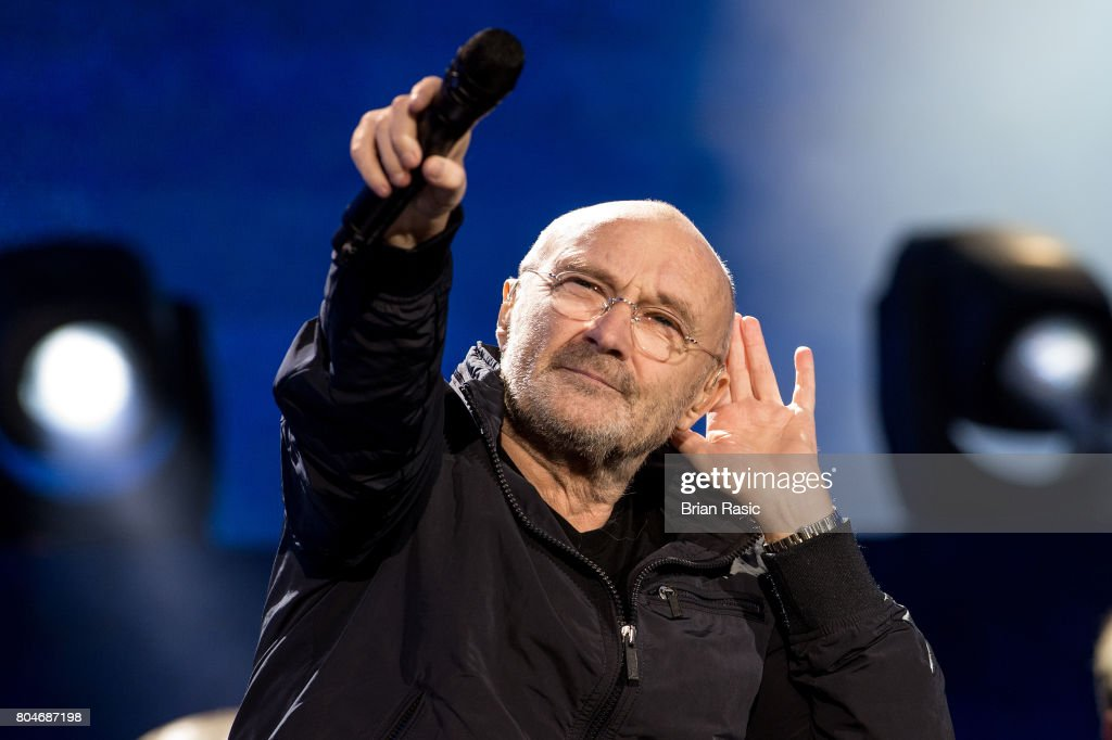 Phil Collins performs at Barclaycard British Summertime at Hyde Park on June 30, 2017 in London, England.