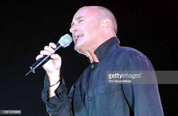 Phil Collins performs at HP Pavilion on August 30, 2004 in San Jose, California.