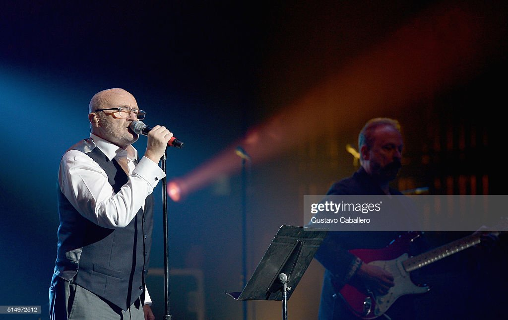 Phil Collins performs at The Little Dreams Foundation Benefit Gala: Dreaming on the Beach at Fillmore Miami Beach on March 11, 2016 in Miami Beach, Florida.