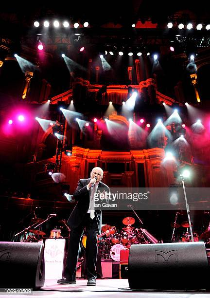 Phil Collins performs at The Prince's Trust Rock Gala 2010 supported by Novae at the Royal Albert Hall on November 17 2010 in London England