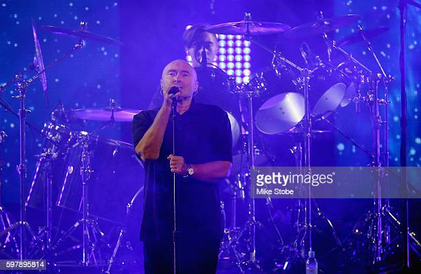 Phil Collins performs during opening ceremonies on Day One of the 2016 US Open at the USTA Billie Jean King National Tennis Center on August 29 2016...