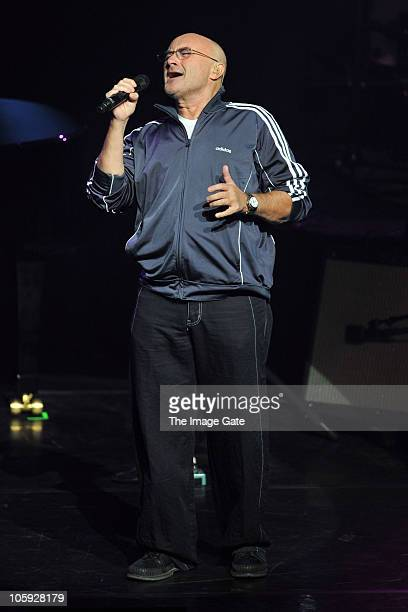 Phil Collins performs during the Little Dreams Foundation 10th Anniversary Gala at Leman Theatre on October 21 2010 in Geneva Switzerland