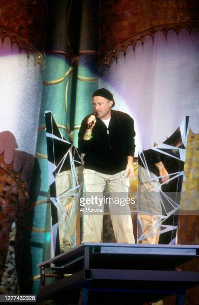 Phil Collins performs during the Super Bowl XXXIV Halftime Show at the Georgia Dome on January 30, 2000 in Atlanta, Georgia.