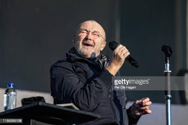 Phil Collins performs in concert on June 10 2019 in Bergen Norway