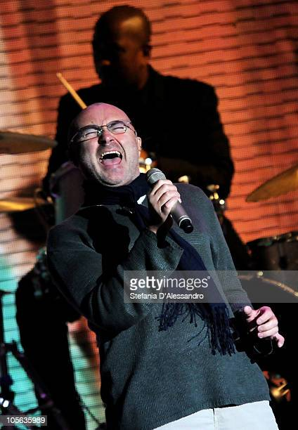 Phil Collins performs live during 'Che Tempo Che Fa' held at Rai Studios on October 17 2010 in Milan Italy
