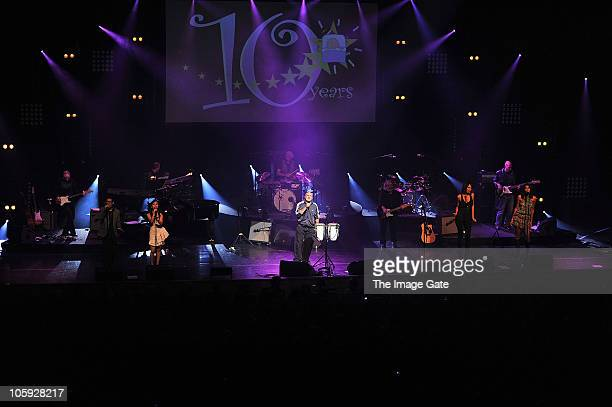 Phil Collins performs with the Little Dreams Band during the Little Dreams Foundation 10th Anniversary Gala at Leman Theatre on October 21 2010 in...