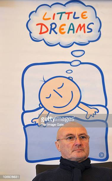 Phil Collins poses during the Little Dreams Foundation 10th Anniversary Press Conference on October 21 2010 in Nyon Switzerland