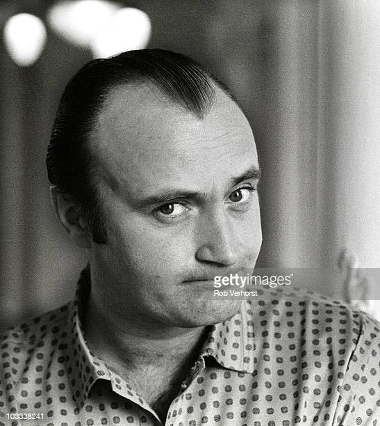 Phil Collins poses for a portrait at the Amstel Hotel on 14th November 1989 in Amsterdam Netherlands