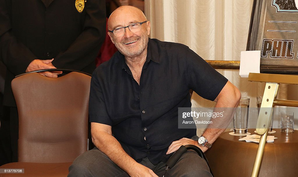Phil Collins Press Conference At Seminole Hard Rock Hotel