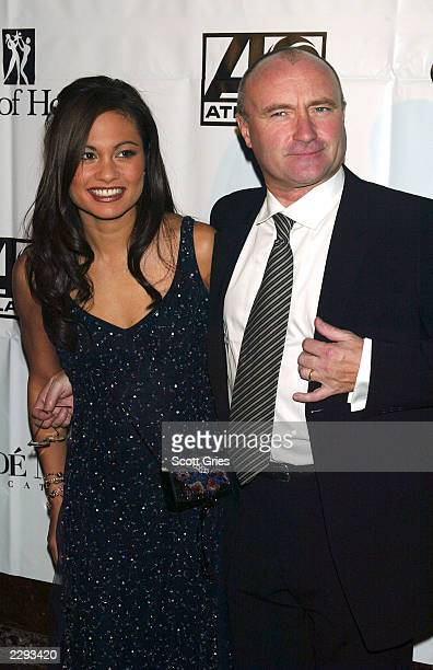 Phil Collins with his wife Orianne during the City of Hope Gala at Cipriani's on 42nd St in New York City November 13 2002 Photo by Scott Gries/Getty...